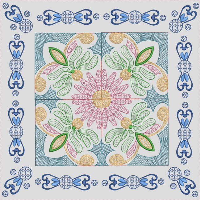 BFC1962 Mexican Talavera Quilt Blocks