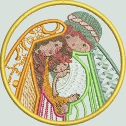 BFC1394 Folk Art Nativity Applique