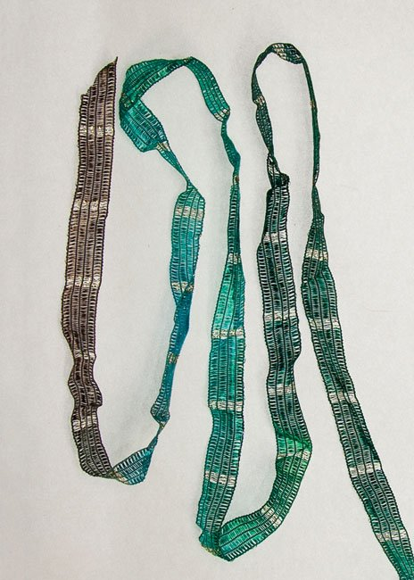 Green/Aqua/Mink Metallic Ribbon