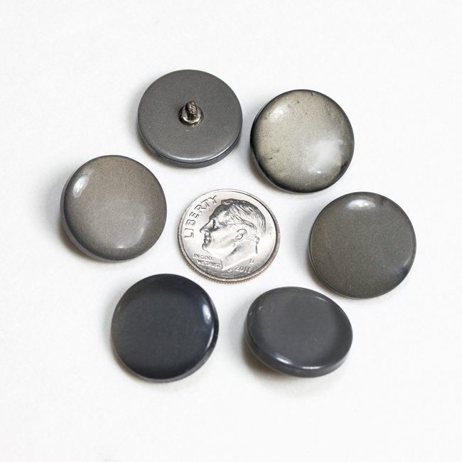 Vintage Acrylic Buttons - Gray