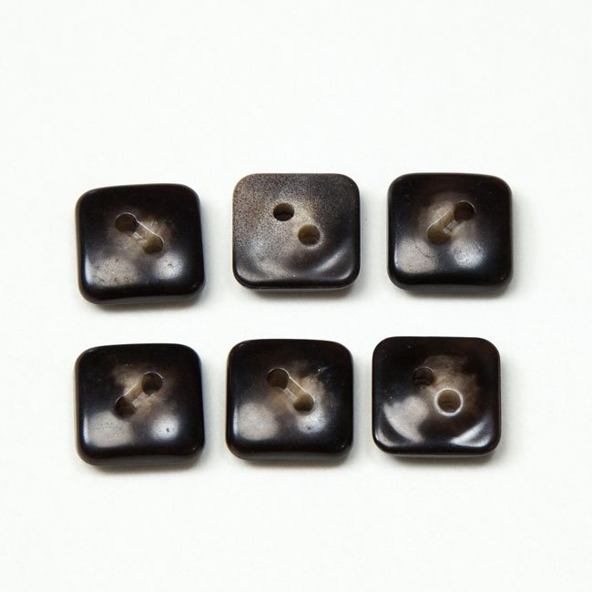 Vintage Acrylic Buttons - Brown Agate Med Sm