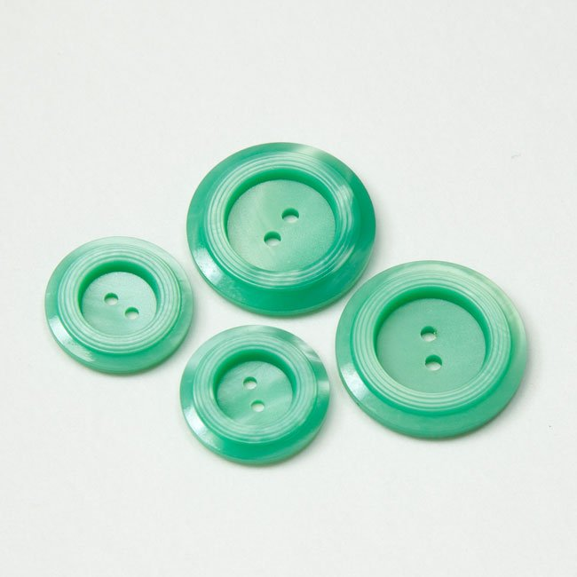 Vintage Acrylic Buttons - Mint
