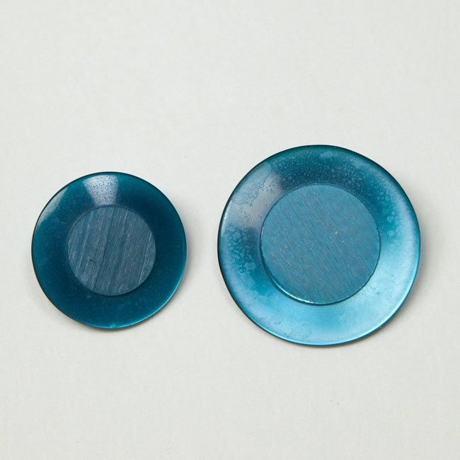 Vintage Acrylic Buttons - Medium Blue