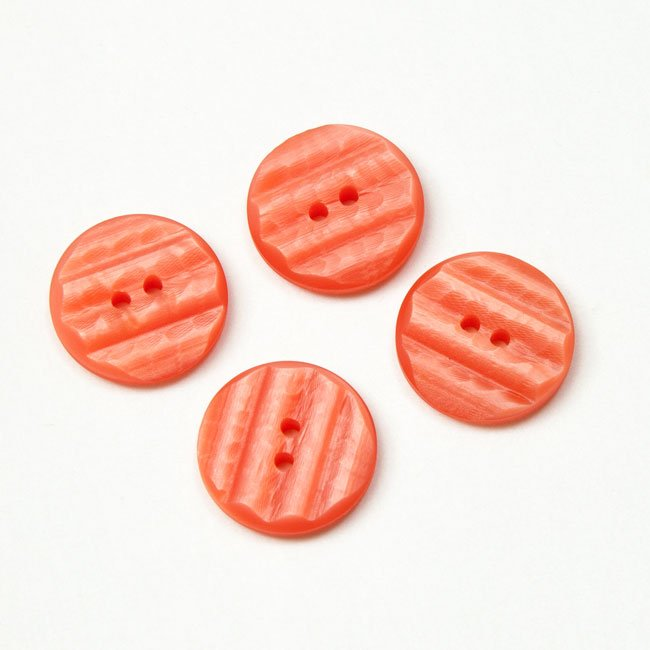 Vintage Acrylic Buttons - Salmon Pink