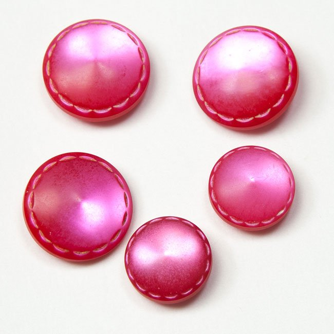 Vintage Acrylic Buttons - Rose Pink