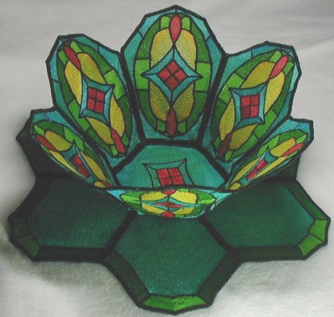 BFC0192 Stained Glass Bowl