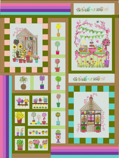Gardening Quilt Collection Combo Set