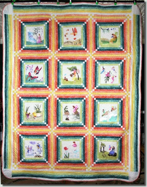 BFC0790 Block 1 of 12 Fairy Land Quilt - The Music Fairy