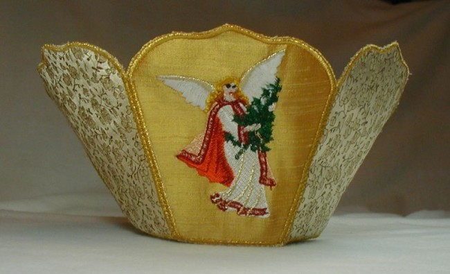 BFC0195 Lace Bowl Victorian Angels